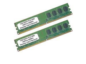 2GB (2X1GB) PC2-3200 DDR2-400MHZ 240Pin UnBuffered LOW DENSITY Desktop RAM MEMORY