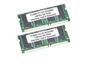 1GB Kit 2X 512MB SDRAM 144Pin SODIMM PC133 133MHz LAPTOP RAM Memory