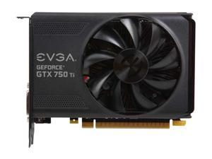 EVGA NVIDIA GeForce GTX 750 Ti 2GB GDDR5 DVI/HDMI/DisplayPort PCI-Express Video Graphics Card
