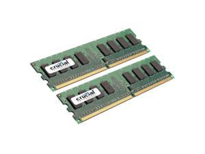 Crucial 2GB Kit 2*1GB DDR2 800 MHz Unbuffered CL5 1.8V 240-pin PC6400 NonECC Desktop Memory RAM 800
