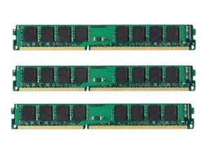 6GB 3*2GB Memory 240-Pin CL9 Unbuffered Non-ECC PC12800 1600 MHZ DDR3 for Desktop Computers