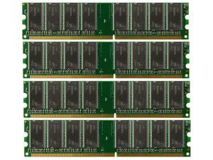 4GB 4*1GB PC3200 DDR400 400 Mhz 184 pin DIMM Desktop Memory DDR High Density