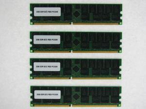 8GB (4*2GB) DDR MEMORY RAM PC3200 ECC REG DIMM 184PIN