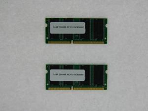 512MB 2*256MB PC133 SODIMM SDRAM 3.3V CL3 Unbuffered Non-ECC 144 pin memory so-dimm Laptop Notebook 133Mhz