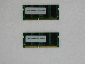 512MB (2*256MB) MEMORY 32X64 PC133 7NS 3.3V SDRAM 144 PIN SO DIMM