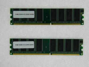 2GB (2*1GB) 128X64 PC 3200 400 MHZ 2.5V NON ECC DDR 184-PIN MEMORY FOR ASUS P5GD1 VM PRO