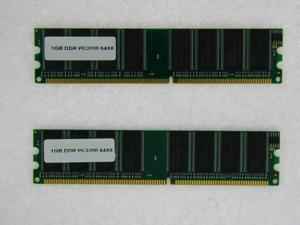 2GB (2*1GB) PC 3200 400MHZ 2.5V NON ECC DDR 184 PIN MEMORY FOR ACER ACERPOWER S280 S285 S285 C