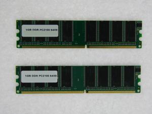 2GB (2*1GB) PC 2100 266MHz DDR Non-ECC 184-Pin DIMM 64X8 CL2.5 MEMORY FOR ASUS TERMINATOR A7VT A7VT400 C3 P4 P4 533 P4 533A T2-AE1