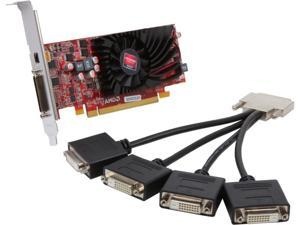 Jaton AMD Radeon HD 6570 1GB DDR3 4VGA Low Profile PCI-Express Video Graphics Card
