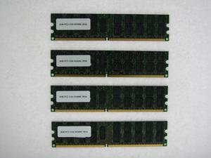 16GB (4*4GB) PC2 3200 400MHz DDR2 240 Pin RDIMM 2RX4 ECC Regsitered