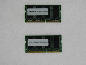128MB (2*64MB) MEMORY 8X64 PC 100 8NS 3.3V SDRAM 144-PIN SO DIMM