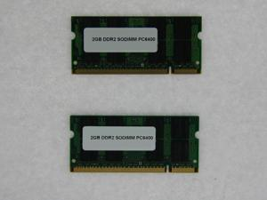 4GB 2*2GB 200 pin PC2 6400 CL6 16c 128x8 DDR2-800 2Rx8 1.8V SODIMM