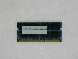 4GB MEMORY 512X64 PC3 10600 1333MHZ 1.5V DDR3 204-PIN SO DIMM