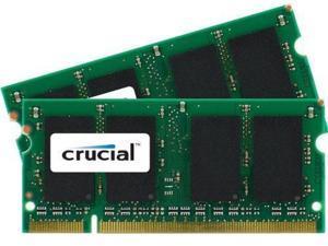 Crucial Sdram Memory Module 4 Gb [2 * 2 Gb] Ddr2 Sdram 667 Mhz Ddr2-667/pc2-5300 1.80 V Non-ecc Unbuffered 200-pin Sodimm