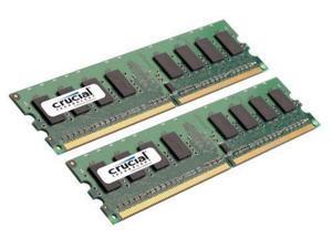 Crucial  Sdram Memory Module -2gb [2 * 1gb]  800mhz Ddr2-800/pc2-6400 Non-ecc Ddr2 Sdram 240-pin Dimm