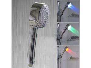 New!Temperature detection shower heads,3 color LED shower, Bathroom shower head, Romantic and comfortable,Home bathroom,Family bathing