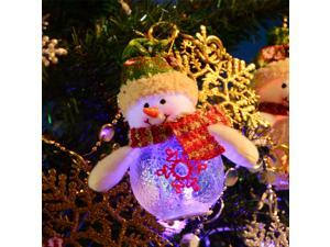 2015 Christmas Tree Decoration New Year 2016 Gift Decorations Ornaments For Home Animated 12pcs LED Light Merry Christmas Dolls Santa Claus Snowman