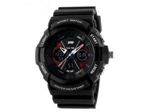 Skmei Fashion Men's LCD Alarm Day Date Chronograph Waterproof Sport Black Rubber Watch