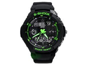 skmei green color ourdoor digital sport watch for men