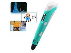 Vibob New 3D Printing Pen With LCD Display For 3D Drawing /Modeling/ Arts /Crafts Printi (Blue)