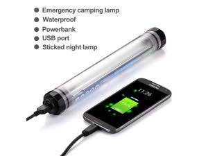 Vibob Q7 Led USB Rechargeable Light Lamp, 500 Lumens Flashlight,Lamp Lantern 5200mah External Battery