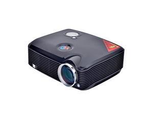 Vibob PH5 Home Theater Led Projector - 2500lm,Dual HDMI Port, USB/VGA/AV/TV Input (Black)
