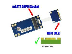 Vibob mSATA SSD to M.2 (NGFF) Adapter with FFC Cable for Laptop PC M.2 SATA KEY B+M SSD
