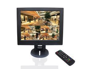 "Sourcingbay 12"" CCTV TFT LCD Monitor Display Computer Screen with a HDMI cable - TV/VGA/AV/HDMI Input (Black)"