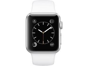 Apple Watch Sport 42mm Smartwatch (Silver Aluminum Case, White Sport Band)