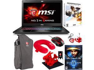 "MSI GS Series GS72 Stealth Pro 4K-202 17.3"" Gaming Laptop - Core i7 6700HQ, 6GB Memory, GeForce GTX 970M, 1 TB HDD, 256 GB SSD + Gaming Bundle"