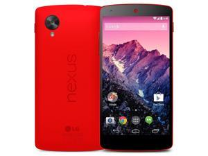 "LG Nexus 5 D821 Red (FACTORY UNLOCKED) 16GB 5"" IPS+ 8MP Quad-core 2.3 GHz"