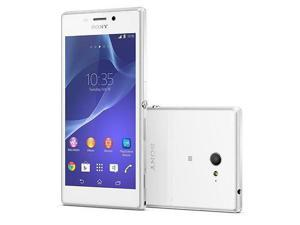 "Sony XPERIA M2 D2303 White (FACTORY UNLOCKED) 1.2GHz Quad-Core - 4.8"" - 8GB8MP"