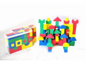 Value Set: 80 Piece (2 Sets) eWonderWorld Foam Soft Wonder Blocks for Children with Carry Tote