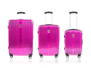 "CHAMPS JET COLLECTION"" HARDSIDE SPINNER 3 PIECES SET - PINK"