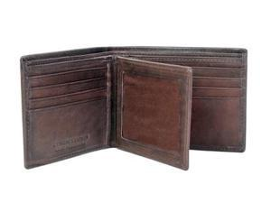 CHAMPS Antique Cow Leather Wallet - Bifold w/ ID Window