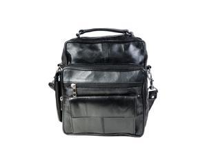 CHAMPS Genuine Leather Unisex Black Travel Bag