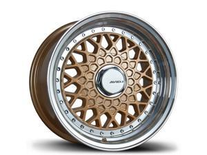 Avid1 AV-05 15x8 4x100 +25 Gold Wheels Set