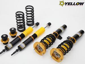 YELLOW DPS COILOVER 93-95 E-CLASS W124 33-STEP ADJUSTABLE SUSPENSION COILOVERS