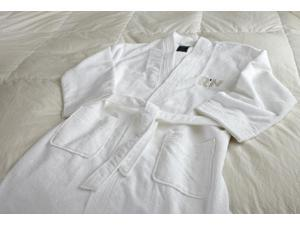 Microfiber Robe  White- S/M   bath robes