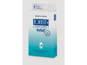 Jobst Relief 20 - 30 Mmhg Open Toe Thigh Highs With Silicone Top Band - Beige - Small