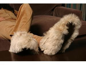 Luxurious Alpaca Fur Slippers - The Most Luxury Fur Slippers - Small - Brown
