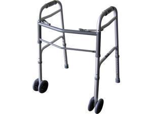 Beriatric Dual Button Folding Walker With Wheels
