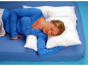 """Shoulder Rest Pillow With White Cover - L 19"""" x H 2.5"""" x W 25"""""""