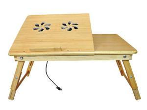 Bamboo Laptop Desk - Multi-functional Laptop & Reading Bamboo Stand with Internal Cooling Fan