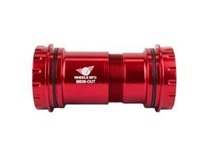 Wheels Manufacturing BB30 Conversion Bottom Bracket, Shi HT2 with AC Bearings, Red