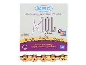 KMC Chain X10L, 1/2x3/32, Gold