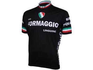 World Jerseys Formaggio jersey black/white  large