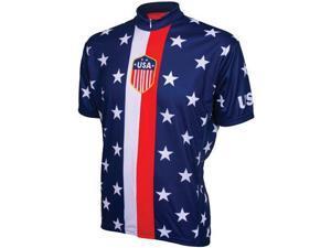 World Jerseys Retro USA Cycling jersey red/white/blue  large