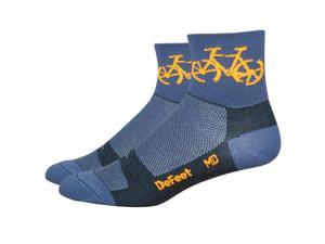 "DeFeet Aireator 3"" Townee Sock: Graphite MD"