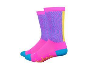 """Defeet, Aireator 6"""", Socks, Bicycle Crumbs Pink, M"""